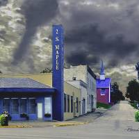 Winchester KY W Broadway Fine Art Canvas or Paper Art Prints & Posters by Brenda Salyers