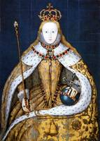 Queen Elizabeth I of England in Her Coronation Rob