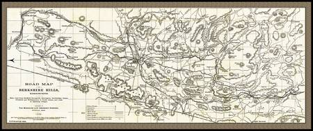 Berkshire Hills Road Map 1896