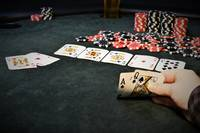 First Person View Of A Winning Hand In Poker