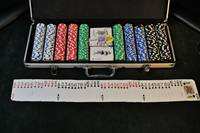 A Complete Set of Poker Chips With Deck of Cards