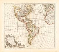 North and South America Map (1754)