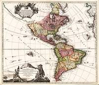 North and South America Maps (1707)