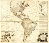 North and South America Map (1777)