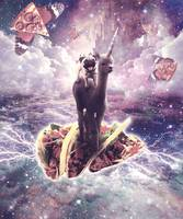 Space Pug Riding Alpaca Unicorn - Pizza & Taco