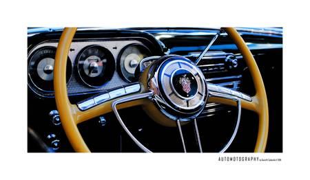 Vintage Yellow Streering Wheel