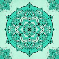 Pretty Teal Mandala