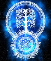 Tree Of Life Glowing Mandala