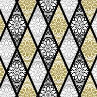 Diamond Mandalas Gold Silver Black