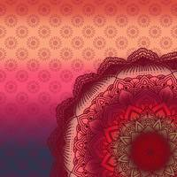 Bohemian Sunset Mandala Purple Red Pink Orange