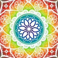 Mandala Tropicana   Blue Green Yellow Orange Red