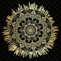 Passage To Shamballa  Black & Gold Mandala