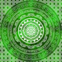 Emerald Destiny Green & White Flower Of Life Boho