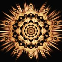 Golden Spirit Glowing Gold Mandala
