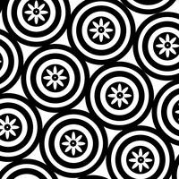 Black & White Circles & Flowers