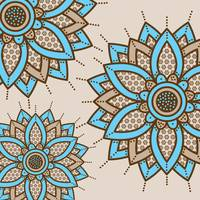 Triple Mandala Brown Blue