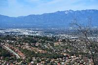 San Gabriel Mountains Cast Behind City
