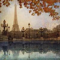 eiffel tower3 Art Prints & Posters by r christopher vest