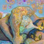 Spoon Bears Flower Bear painting by RD Riccoboni
