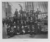 USS PENSACOLA (1859-1911)  Ship's apprentices pose