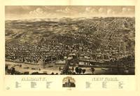 Aerial View of Albany, New York (1879)