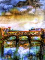 Florence Italy Ponte Vecchio Mixed Media