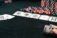 Ace Queen of Spades For The Royal Flush Win