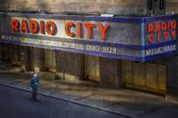 Radio City Music Hall with Skate Boarder