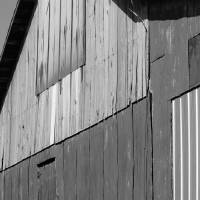 Barn Abstract Black and White by Karen Adams