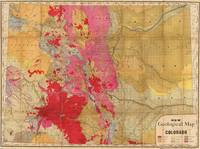 Vintage Geological Map of Colorado (1879)