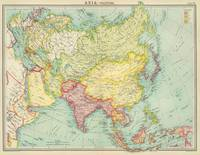 Vintage Map of Asia (1922)