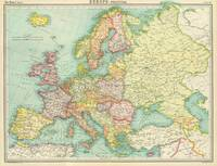 Vintage Map of Europe (1922)