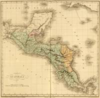 Vintage Map of Guatemala (1825)