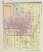 Vintage Map of Council Bluffs IA (1901)