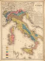Vintage Italy Geology Map (1844)