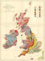 Vintage Geological Map of The British Isles (1912)