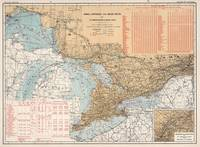 Vintage Great Lakes Lighthouses and Sailing Routes