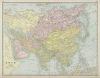 Vintage Map of Asia (1889)