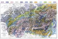 Vintage Geological Map of The Alps (1876)