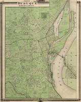 Vintage Map of Dubuque IA (1875)