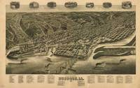 Vintage Pictorial Map of Dubuque IA (1889)