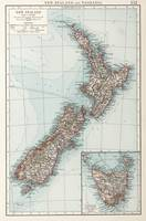 Vintage Map of New Zealand (1900)