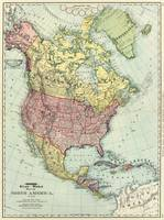 Vintage Map of North America (1897)