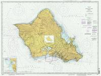 Island of Oahu Hawaii Map (1996)