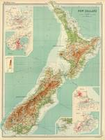 Vintage Map of New Zealand (1922)