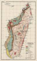 Vintage Geological Map of Madagascar (1922)