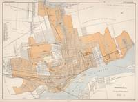 Vintage Map of Montreal Canada (1915)