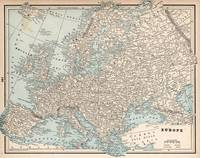Vintage Map of Europe (1893)