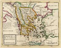 Vintage Map of Greece (1736)
