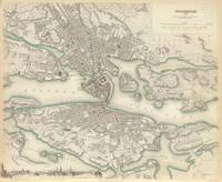 Vintage Map of Stockholm Sweden (1838)
